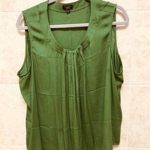 Green dressy sleeveless top